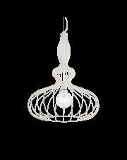 Lampa wisząca Clarissa SP1 Bianco 220604 Ideal Lux biała oprawa w dekoracyjnym stylu