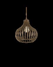 Lampa wisząca Onion SP1 D23 205281 Ideal Lux dekoracyjna oprawa w kolorze brązu