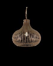 Lampa wisząca Onion SP1 D48 205304 Ideal Lux dekoracyjna oprawa w kolorze brązu