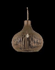 Lampa wisząca Onion SP1 D60 205311 Ideal Lux dekoracyjna oprawa w kolorze brązu