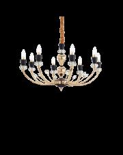 Żyrandol Vanity SP8 206622 Ideal Lux dekoracyjna oprawa w kolorze złotym