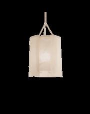 Lampa wisząca Amaca SP1 D40 207636 Ideal Lux materiałowa oprawa w nowoczesnym stylu