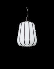 Lampa wisząca Kyoto SP1 Medium 208282 Ideal Lux biała oprawa w nowoczesnym stylu