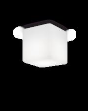 Plafon zewnętrzny Luna PL1 Medium 213194 Ideal Lux sześcienna oprawa w kolorze białym