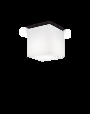 Plafon zewnętrzny Luna PL1 Small 213200 Ideal Lux sześcienna oprawa w kolorze białym
