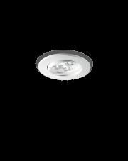 Oczko stropowe Delta 3W 062396 Ideal Lux minimalistyczna oprawa w kolorze białym