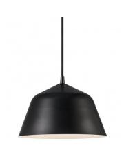 Lampa wisząca Ella 24 48703003 Nordlux czarna oprawa wisząca w stylu nowoczesnym