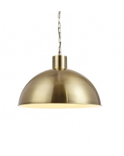 Lampa wisząca EKELUND XL 107735 Markslojd pojedynczy złoty zwis w industrialnym stylu z metalowym kloszem