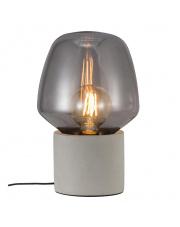 Lampa stołowa Christina 48905011 Nordlux designerska betonowa oprawa stołowa z dymionym kloszem