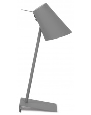 Lampa biurkowa Cardiff CARDIFF/T/DG It's About Romi minimalistyczna lampa stojąca w kolorze szarym