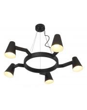 Lampa wisząca Biarritz BIARRITZ/H5/B It's About Romi nowoczesna oprawa w kolorze czarnym