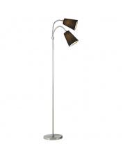 Lampka podłogowa Lelio 75554003 Nordlux nowoczesna oprwa w kolorze czarnym