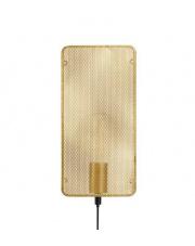 Kinkiet Mesh 107813 Markslojd dekoracyjna prostokątna oprawa w kolorze złotym