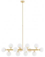 Lampa wisząca Cumulus 1 10752145 KASPA biało-złota oprawa w dekoracyjnym