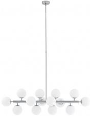Lampa wisząca Cumulus 1 10751143 KASPA biało-chromowa oprawa w dekoracyjnym