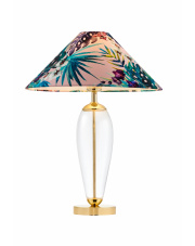 Lampa stołowa Feria 1 40909116 KASPA różowa oprawa w dekoracyjnym stylu