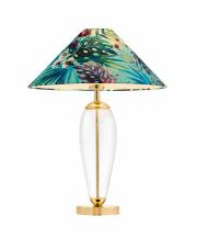 Lampa stołowa Feria 1 40914113 KASPA zielona oprawa w dekoracyjnym stylu