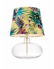 Lampa stołowa Feria 2 40905114 KASPA dekoracyjna oprawa z żółtym abażurem