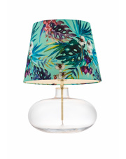 Lampa stołowa Feria 2 40915113 KASPA kolorowa oprawa ze szklaną podstawą