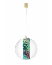 Lampa wisząca Feria L 10913113 KASPA kulista oprawa z dekoracyjnym wzorem