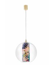 Lampa wisząca Feria M 10907116 KASPA kulista oprawa z dekoracyjną tubą