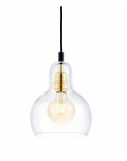 Lampa wisząca Longis I Gold 10871105 KASPA nowoczesna oprawa ze szklanym kloszem