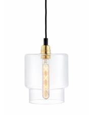 Lampa wisząca Longis IV Gold 10874105 KASPA nowoczesna oprawa ze szklanym kloszem