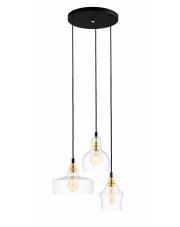 Lampa wisząca Longis 3 Gold 10877305 KASPA elegancka potrójna oprawa w nowoczesnym stylu