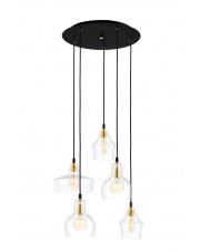 Lampa wisząca Longis 5 Gold 10878505 KASPA elegancka oprawa w nowoczesnym stylu