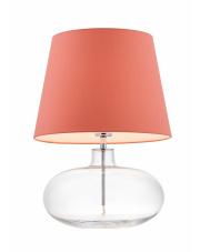Lampa stołowa Sawa 40592111 KASPA koralowa oprawa ze szklaną podstawą