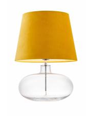 Lampa stołowa Sawa Velvet 41011114 KASPA nowoczesna oprawa z żółtym abażurem