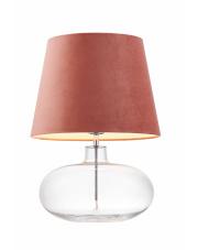 Lampa stołowa Sawa Velvet 41012116 KASPA nowoczesna oprawa z różowym abażurem