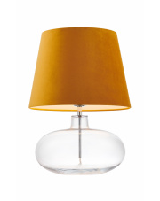 Lampa stołowa Sawa Velvet 41013105 KASPA nowoczesna oprawa ze złotym abażurem