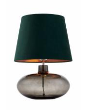 Lampa stołowa Sawa Velvet 41015113 KASPA zielona oprawa z dymioną podstawą
