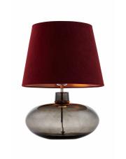 Lampa stołowa Sawa Velvet 41016111 KASPA bordowa oprawa z dymioną podstawą