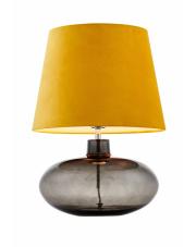 Lampa stołowa Sawa Velvet 41017114 KASPA żółta oprawa z dymioną podstawą