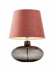 Lampa stołowa Sawa Velvet 41021116 KASPA różowa oprawa z dymioną podstawą