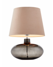 Lampa stołowa Sawa Velvet 41018107 KASPA beżowa oprawa z dymioną podstawą