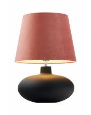 Lampa stołowa Sawa Velvet 41020116 KASPA różowa oprawa z grafitową podstawą