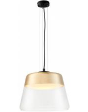 Lampa wisząca Spirit L 10821105 KASPA szklana oprawa w kolorze złotym
