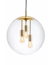Lampa wisząca Surya 10744305 KASPA złota oprawa w kształcie kuli