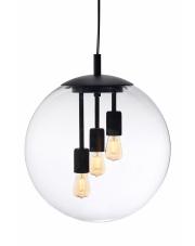 Lampa wisząca Surya 10743302 KASPA czarna oprawa w kształcie kuli