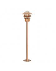 Lampa ogrodowa Blokhus 25078030 Nordlux nowoczesna oprawa stojąca w kolorze miedzi