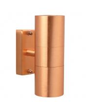 Kinkiet zewnętrzny Tin 21279930 Nordlux nowoczesna podwójna oprawa w kolorze miedzi