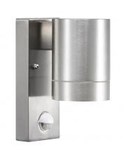 Kinkiet zewnętrzny Tin Maxi z czujnikiem ruchu 21509129 Nordlux nowoczesna oprawa w kolorze aluminium