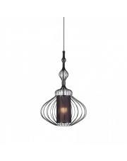 Lampa wisząca ABI M 8866 Nowodvorski Lighting abażurowa z drucianą oprawą w kolorze czarnym