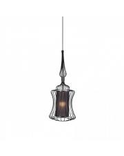 Lampa wisząca ABI S 8870 Nowodvorski Lighting abażurowa z drucianą oprawą w kolorze czarnym