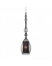 Lampa wisząca ABI L 8864 Nowodvorski Lighting abażurowa z drucianą oprawą w kolorze czarnym
