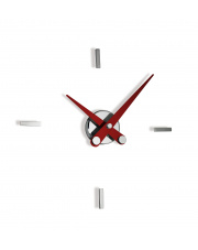 Zegar ścienny Puntos Suspensivos PSI004R 4ts Nomon z czerwonymi wskazówkami