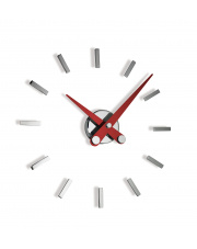 Zegar ścienny Puntos Suspensivos PSI012R 12sh Nomon z czerwonymi wskazówkami